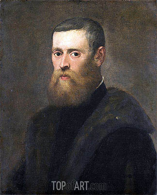Portrait of a Man, c.1550/75 | Tintoretto| Painting Reproduction