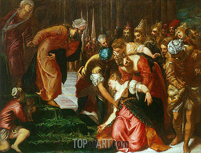 Esther before Ahasuerus, c.1546/47 | Tintoretto | Painting Reproduction