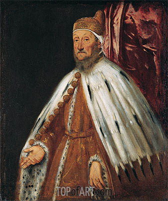 Portrait of Doge Pietro Loredan, c.1567/70 | Tintoretto | Painting Reproduction