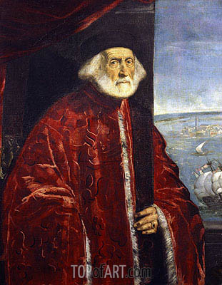 Portrait of a Venetian Procurator, undated | Tintoretto | Painting Reproduction