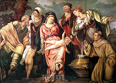 Sacra Conversazione Molin, 1540 | Tintoretto | Painting Reproduction