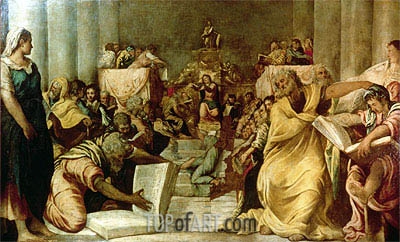 Christ Among the Doctors, c.1542 | Tintoretto| Painting Reproduction
