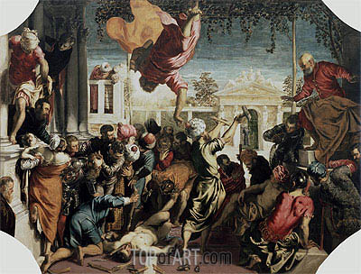The Miracle of the Slave, c.1547/48 | Tintoretto | Painting Reproduction