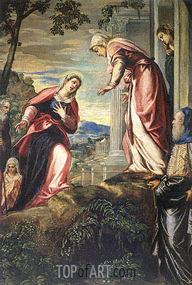 The Visitation (detail), c.1549 | Tintoretto| Painting Reproduction
