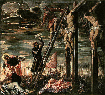 The Crucifixion of Christ, 1568 | Tintoretto| Painting Reproduction