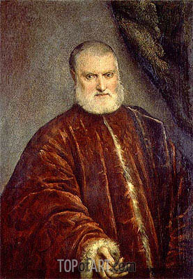 Portrait of Procurator Antonio Cappello, c.1551 | Tintoretto| Painting Reproduction