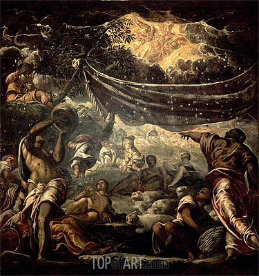 The Fall of Manna, 1577 | Tintoretto | Painting Reproduction