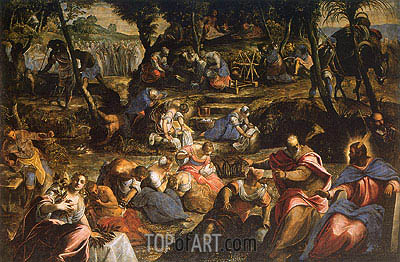 The Israelites in the Desert, c.1593 | Tintoretto| Painting Reproduction