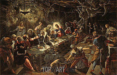 The Last Supper, c.1593 | Tintoretto | Painting Reproduction