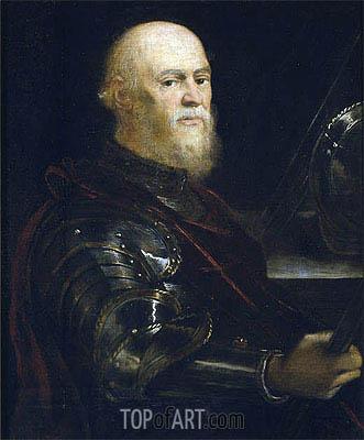 Tintoretto | A Venetian Admiral, c.1570/75