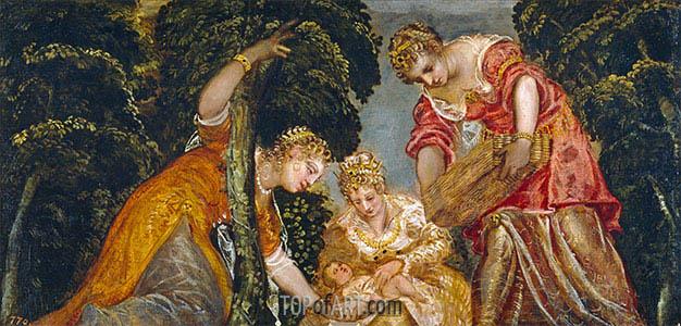 Tintoretto | Moses Gerettet aus den Gewässern, c.1552/55