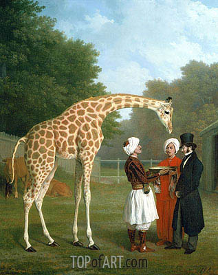 The Nubian Giraffe, 1827 | Jacques-Laurent Agasse | Gemälde Reproduktion
