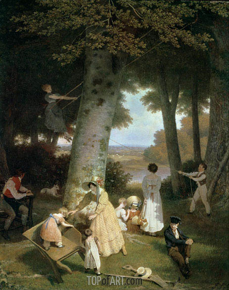 The Playground, 1830 | Jacques-Laurent Agasse | Gemälde Reproduktion