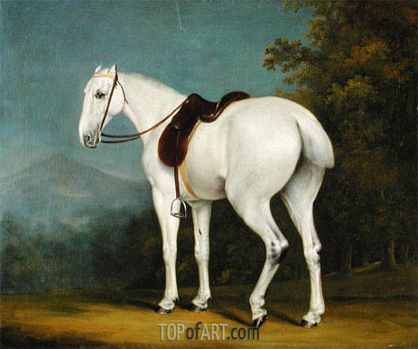 A Lady's Grey Hunter, c.1806 | Jacques-Laurent Agasse | Gemälde Reproduktion