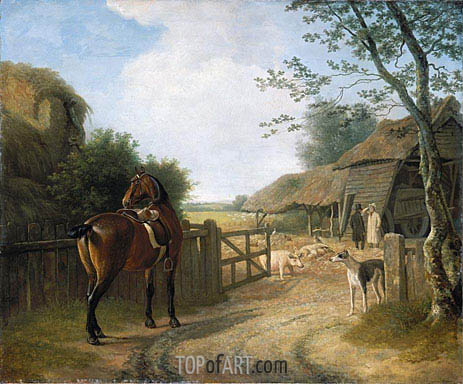 Daniel Beale at his Farm at Edmonton with his Favourite Horse, undated | Jacques-Laurent Agasse | Painting Reproduction