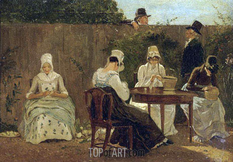 The Chalon Family in London, undated | Jacques-Laurent Agasse | Painting Reproduction