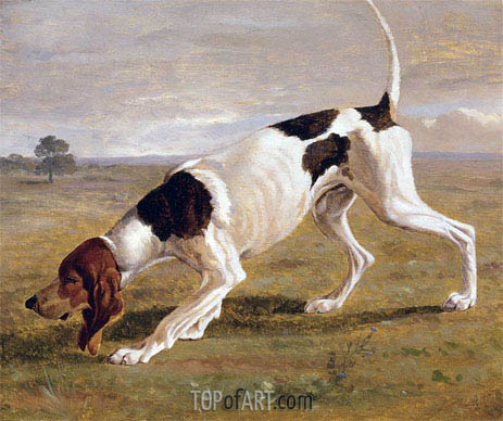 A Pointer in a Landscape, undated | Jacques-Laurent Agasse | Painting Reproduction