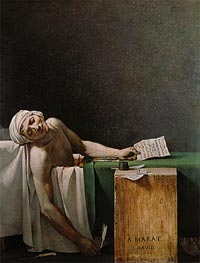 The Death of Marat, 1793 von Jacques-Louis David | Gemälde-Reproduktion