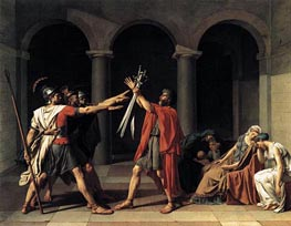 The Oath of the Horatii, 1784 von Jacques-Louis David | Gemälde-Reproduktion