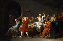 The Death of Socrates, 1787 von Jacques-Louis David | Gemälde-Reproduktion