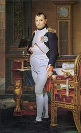 The Emperor Napoleon in His Study at the Tuileries, 1812 von Jacques-Louis David | Gemälde-Reproduktion