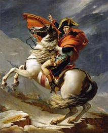 Napoleon Crossing the Alps on 20th May 1800, 1803 by Jacques-Louis David | Painting Reproduction