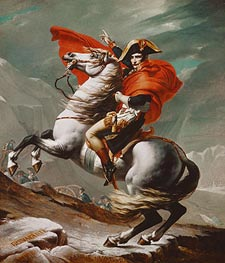 Napoleon Crossing the Saint Bernhard Pass, c.1801/02 von Jacques-Louis David | Gemälde-Reproduktion