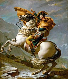 Napoleon Crossing the Alps at the St Bernard Pass, 20th May 1800 | Jacques-Louis David | Painting Reproduction