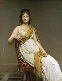 Henriette Verniac, nee Henriette Delacroix, soeur d'Eugene Delacroix, c.1798/99 by Jacques-Louis David | Painting Reproduction