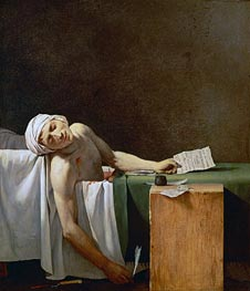 Assassination of Jean-Paul Marat in His Bath, 1793 von Jacques-Louis David | Gemälde-Reproduktion
