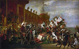 The Oath of the Army after the distribution of the Eagles on the Champs de Mars, December 5, 1804, 1810 von Jacques-Louis David | Gemälde-Reproduktion