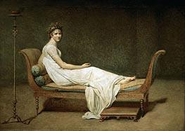 Mme Recamier nee Julie Bernard, 1800 by Jacques-Louis David | Painting Reproduction