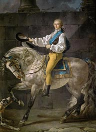 Count Stanislas Potocki, 1781 von Jacques-Louis David | Gemälde-Reproduktion