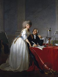 Antoine-Laurent Lavoisier and His Wife Marie-Anne-Pierrette Paulze, 1788 von Jacques-Louis David | Gemälde-Reproduktion