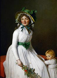 Mme. Seriziat and Her Son, 1795 von Jacques-Louis David | Gemälde-Reproduktion