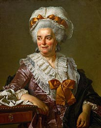 Genevieve Jacqueline Pecoul (the Painter's Mother-in-Law), 1784 von Jacques-Louis David | Gemälde-Reproduktion