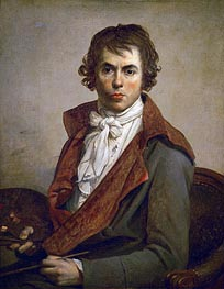 Self Portrait, 1794 von Jacques-Louis David | Gemälde-Reproduktion