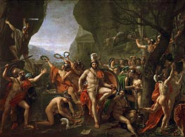 Leonidas at the Thermopylae, 1814 von Jacques-Louis David | Gemälde-Reproduktion
