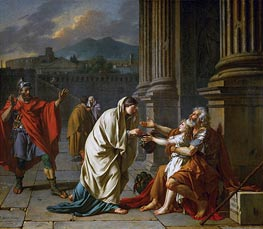 Belisarius Begging for Alms, 1784 by Jacques-Louis David | Painting Reproduction