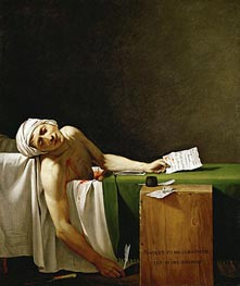 Assassinated Marat in His Bathtub | Jacques-Louis David | Painting Reproduction
