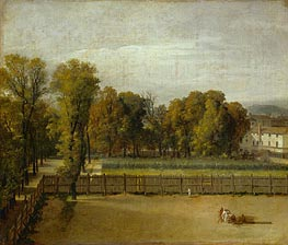 View from the Luxembourg Gardens in Paris, undated by Jacques-Louis David | Painting Reproduction