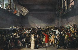 The Tennis Court Oath, 20th June 1789 | Jacques-Louis David | Gemälde Reproduktion