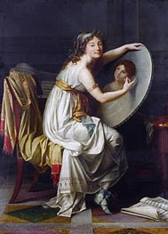 Portrait of Rose Adelaide Ducreux | Jacques-Louis David | Gemälde Reproduktion