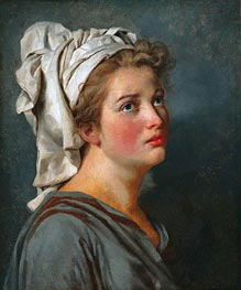 Young Woman with a Turban, c.1780 by Jacques-Louis David | Painting Reproduction