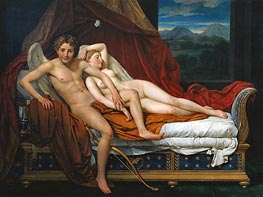 Cupid and Psyche, 1817 von Jacques-Louis David | Gemälde-Reproduktion