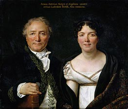 Mr. and Mrs. Antoine Mongez, 1812 by Jacques-Louis David | Painting Reproduction