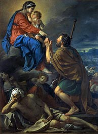 Saint Roch Pleading for the Victims of the Plague, 1781 by Jacques-Louis David | Painting Reproduction
