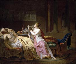 Homer and Calliope | Jacques-Louis David | Painting Reproduction