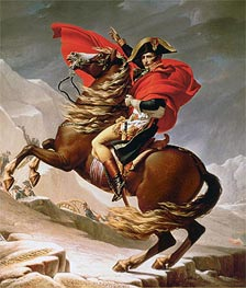 Napoleon Crossing the Alps | Jacques-Louis David | Painting Reproduction