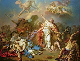Apollo and Diana Attacking the Children of Niobe | Jacques-Louis David | outdated